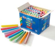 Tizas anti-polvo colores surtidos los 100