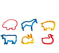 Animales de la granja lote de 6