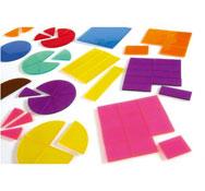 Cuadrados y discos de fracciones transparentes maxi lote el conjunto