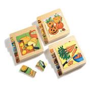 Puzzles ciclos de vida las frutas y verduras maxi lote lote de 3