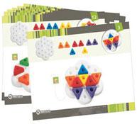 Babyfichas juego de apilar triangular los 16
