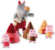 Marionetas el lobo y los 3 cerditos el conjunto
