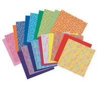 Hojas con dibujos para origami 60 g flores los 20