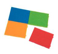 Juego de construcción bristle blocks lote de 4 placas los 4