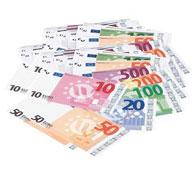 Billetes ficticios en euros lote de 56 billetes wesco el conjunto