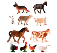 Animales de la granja lote de 11