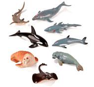 Lote 8 animales marinos