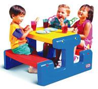 Mesa pícnic pequeña