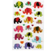 Elefante gomets relieve 3d los 18
