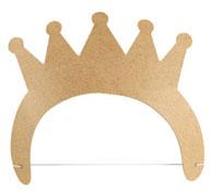 Corona princesa para decorar la unidad