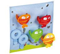 Los peces tapices murales de actividades baby artisticks largo: 48 cm. el conjunto