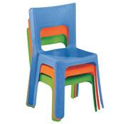 Silla apilable lou tamaño mediano entre t1y t2 (altura del asiento: 29,5 cm) la unidad