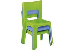 Silla apilable lou tamaño grande t3 (altura del asiento: 35 cm) la unidad