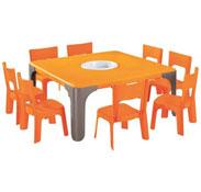 Maxi lote mesa de actividades cuadrada lou  tamaño pequeño el conjunto