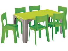Maxi lote mesa de actividades rectangular lou  tamaño pequeño el conjunto