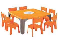 Maxi lote mesa de actividades cuadrada lou gran tamaño el conjunto