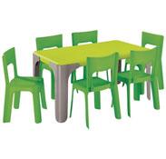 Maxi lote mesa de actividades rectangular lou  gran tamaño el conjunto