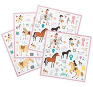 Gomets  caballos lote de 160