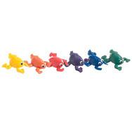 Animales lastrados arco iris las ranas lote de 6
