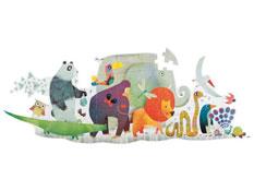 Puzzle gigante la cabalgata de animales la unidad