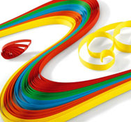Bandas de papel para filigranas colores vivos lote de 100