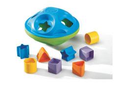 Caja con formas diseño eco peonza el conjunto
