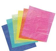 Hojas de papel de seda  nacarado los 12