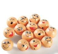 Cabezas emociones de madera los 16