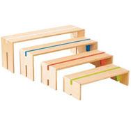 4 bancos encajables de colores maxi lote los 4