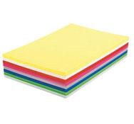 Hojas de papel color 120 g lote de 400