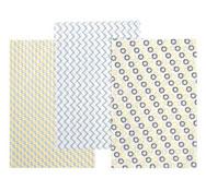 Amarillo y grishojas de papel gluepatch los 30