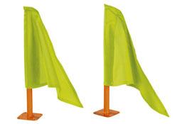 Banderines + soportes el conjunto