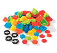 Juego de construcción bristle blocks lote de 50 piezas los 50