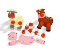 Atornilla y juega los animales de la granja el conjunto