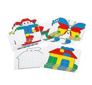 Juego de mosaicos gigantes fantacolor junior set 48 fichas de actividades lote de 48