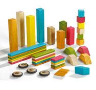 Juego de construcción magnético de madera eco classics 42 piezas los 42