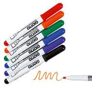 Rotuladores de tinta borrado en seco punta mediana los 6