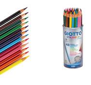 Lápices de colores acuarelables stilnovo lote de 48