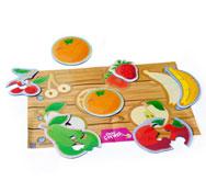 Puzzles con formas flexibles las frutas el conjunto