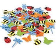 Formas de espuma adhesivas insectos aprox. 72