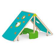 Cabaña para trepar gaya para suelo de arena o caucho el conjunto
