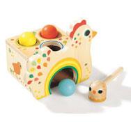 Caja de formas gallina y sus huevos el conjunto