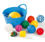 Bolas sensoriales táctiles set de 11 pelotas con cesto el conjunto