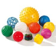 Bolas sensoriales táctiles set de 11 bolas sin cesto el conjunto