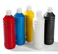 Pintura acrílica frasco 500 ml colores primarios lote de 5