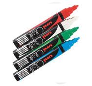 Rotulador cera punta cónica colores estándar lote de 4