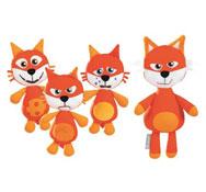 Familia zorro sweety el papá y sus zorros los 4