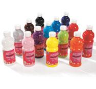 Pintura acrilica glossy frasco de 500 ml. la unidad