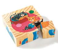 Puzzle 9 cubos animales la unidad