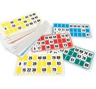 96 cartones de bingo lote de 96